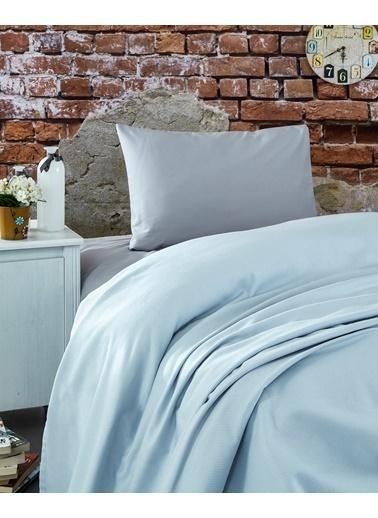 Komfort Home Tek Kişilik Ranforce %100 Pamuk Pike / Açık Gri Gri